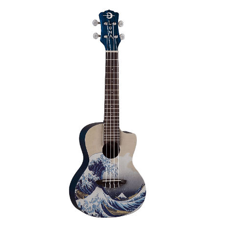 Luna Artistic Series Great Wave Concert Ukulele